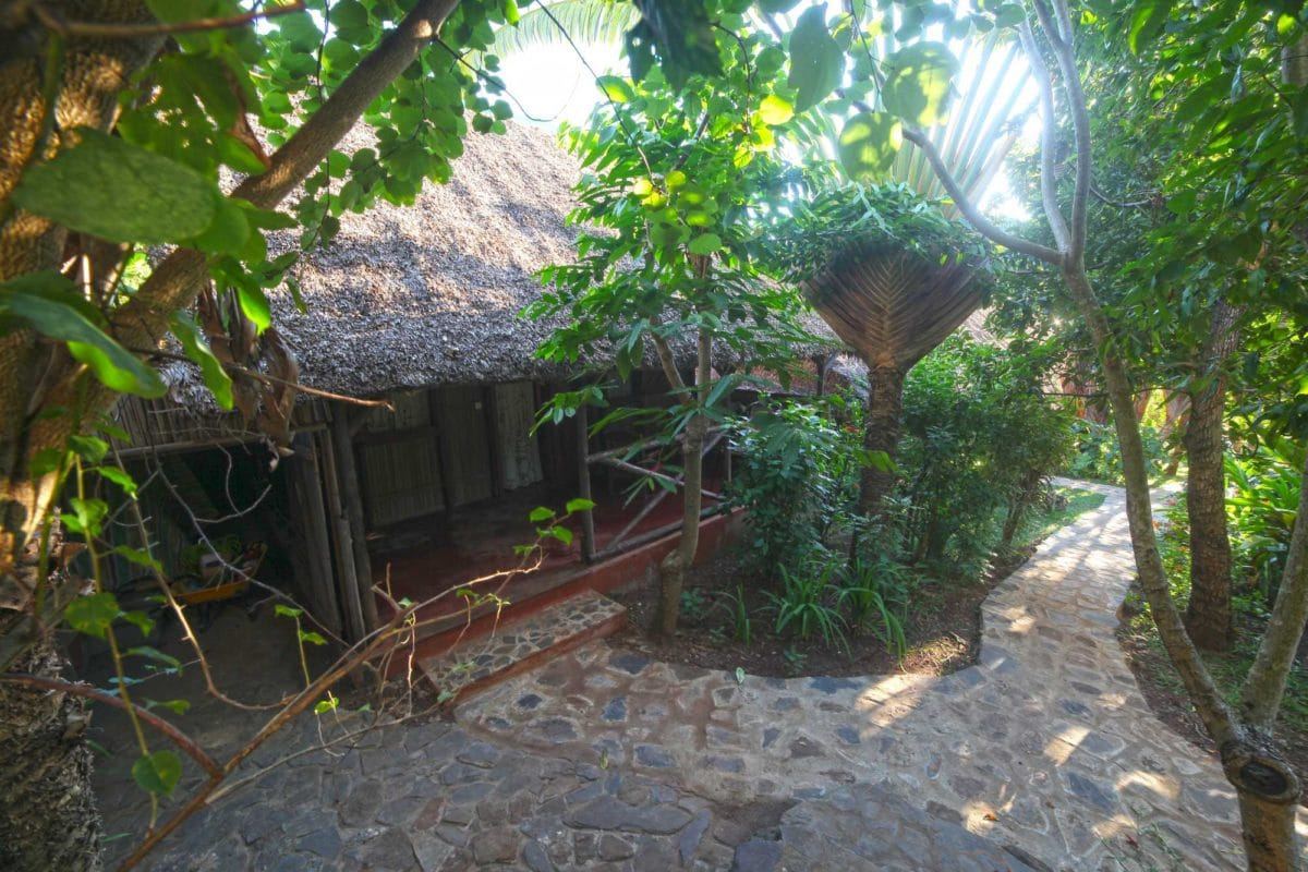 Vue sur le bungalows à nosy be